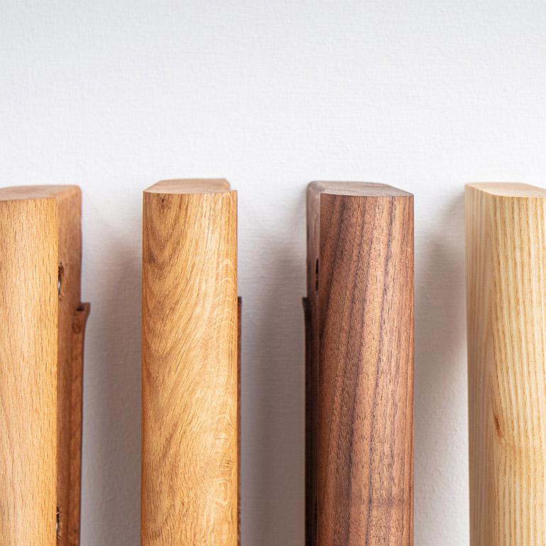 Handgemaakte houten poten